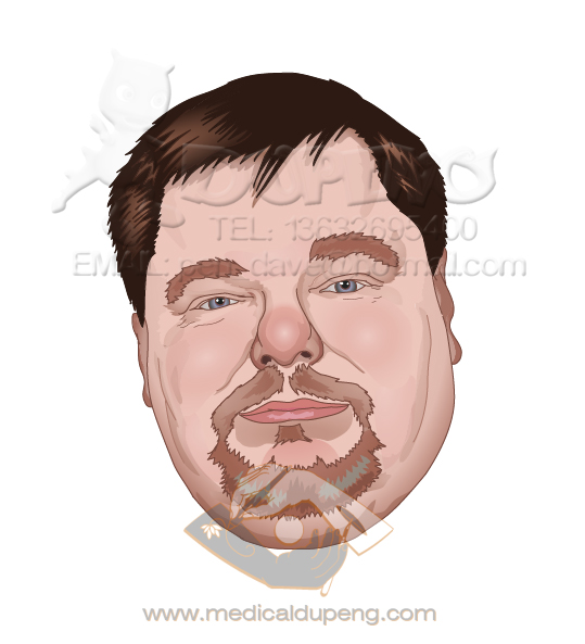 Jim portrait in vector style